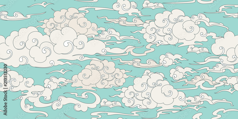 Fototapeta Seamless cloud pattern