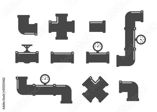 Fototapeta Valve, taps, pipe connectors, pipe details