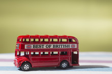 Toy That Represents The Classic London Red Double-decker Bus