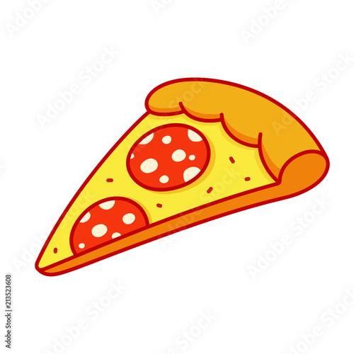 Pepperoni pizza slice Fototapete