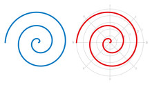 Archimedean Spiral On White Ba...