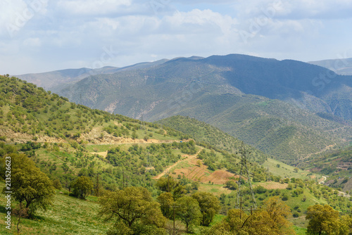 Deurstickers Blauwe hemel Nature landscape in Kurdistan Province. Iran