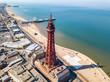 Leinwanddruck Bild - Blackpool tower in Blackpool, UK