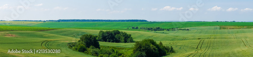 Tuinposter Blauwe hemel panorama beautiful view landscape field