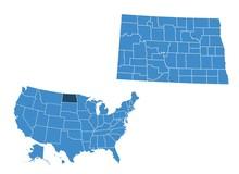 Map Of North Dakota State