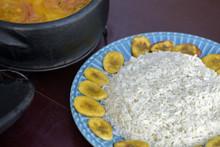 Brazilian Cuisine: Coconut Rice With Fried Banana
