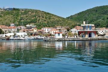 Fototapeta na wymiar Port of Acciaroli, National Park of Cilento. Salerno. Southern Italy