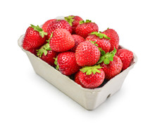 Fresh Strawberry In A Paper Carton