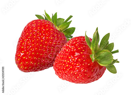Foto op Aluminium Vruchten Strawberry isolated on white background