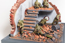 Part Of Diorama With Six Soldiers