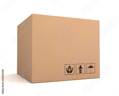 Foto blank cardboard box concept  3d illustration