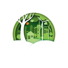 Green Cco Friendly Urban City ...