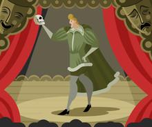 Hamlet Performance With Skull
