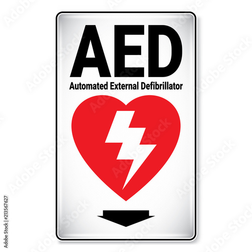 Vector And Illustration Graphic Style Aed Automated External