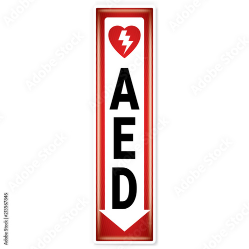 Vector And Illustration Graphic Style Aed Safety Messages Symbol