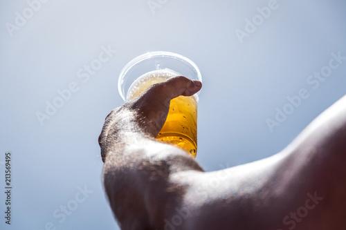 In de dag Bier / Cider Beer in sunny day