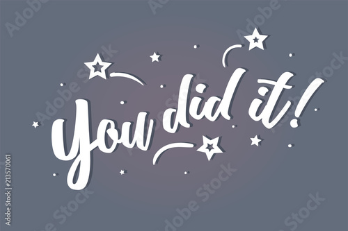 You did it lettering card, banner Canvas-taulu
