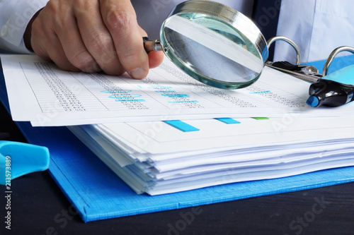 Photo Auditor is working with financial documents