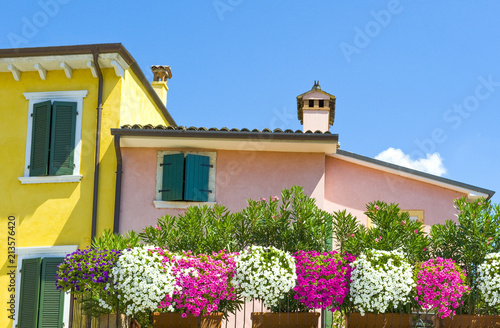 The colorful villages on the Garda Lake