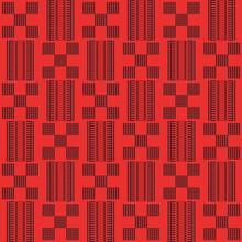 African Kente Cloth, Ethnic Fabric. Seamless Geometric Pattern.