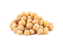 Pile Of Cooked Chick Peas Isol...