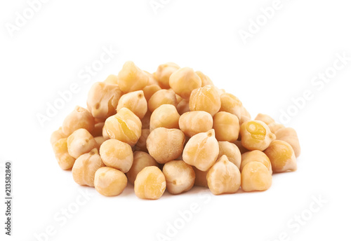 Stampa su Tela Pile of cooked chick peas isolated