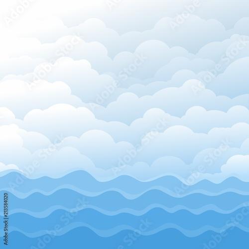 Plakaty marynistyczne ladny-motyw-marynistyczny-z-falami