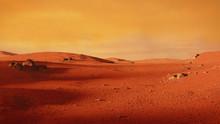 Landscape On Planet Mars, Scen...
