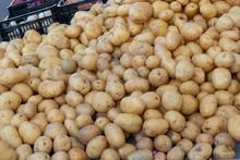 Heap Of Potatoes On The Market