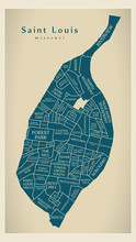 Modern City Map - Saint Louis ...