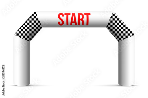 Foto Creative vector illustration of finish line inflatable arch isolated on background