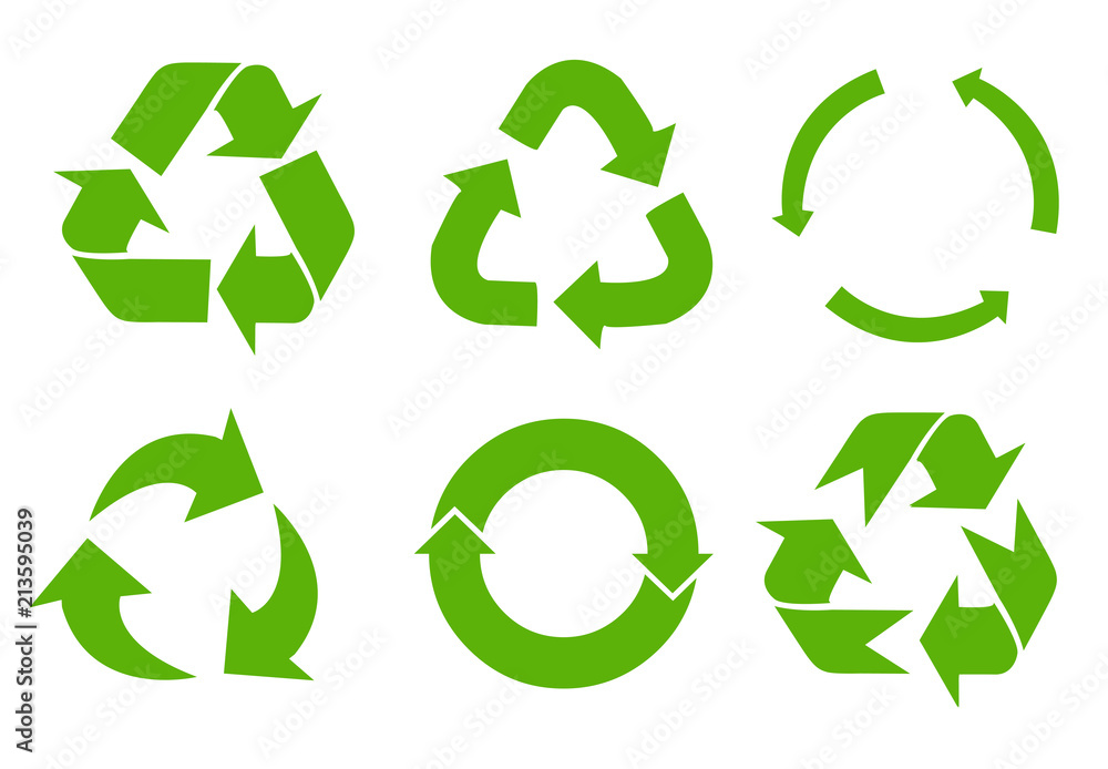 Fototapety, obrazy: Vector recycle signs