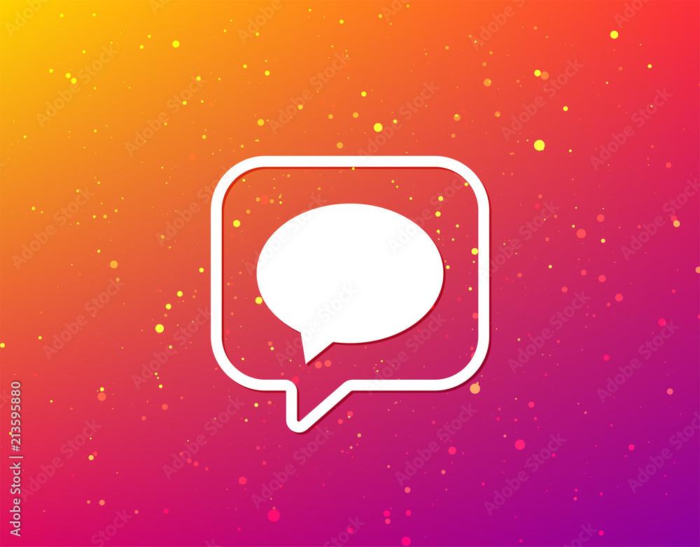 Fototapeta Speech bubble icon. Chat sign.