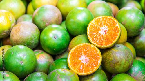 Orange slide in the street market. - 213596064