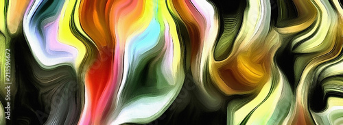 Abstract of multi colors and lines