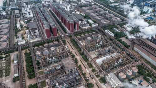 aerial view of alumina factory Wallpaper Mural