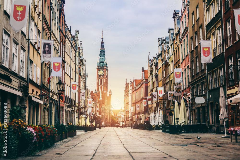 Fototapety, obrazy: Stare Miasto w Gdańsku, Polska - ul. Długa