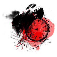 Trash Polka Clock