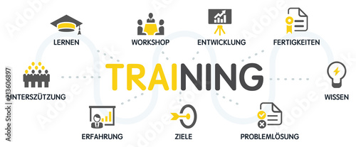 Fototapeta Training Vektor Grafik Icons Piktogramme obraz