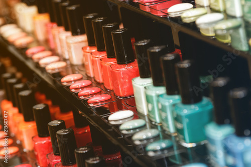Foto Different nail polishes