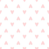 Repeated hearts drawn by hand. Cute romantic seamless pattern. Endless print for girls. - 213610887
