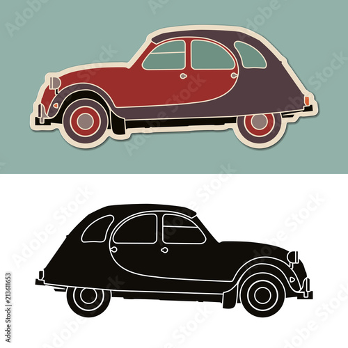Photo  Vintage tipycal french car - Citroen 2CV Charleston