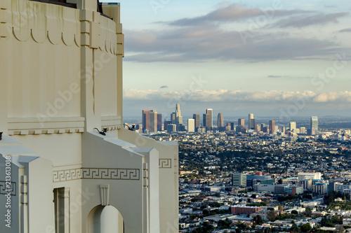 Fotografie, Obraz Griffith Observatory, Los Angeles Skyline, California, Usa