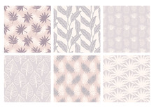 Tropical Summer Seamless Patterns Collection