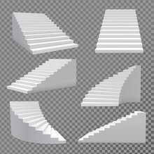 Stairs Vector Set.