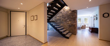 Entry With Stone Stairs, Luxurious Entrance