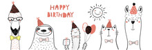 Hand Drawn Birthday Card With ...