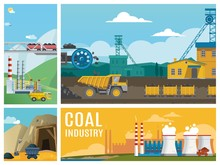 Flat Coal Industry Colorful Co...