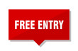 free entry red tag