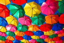 Lots Of Colorful Umbrellas In ...